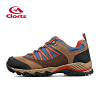 Clorts Trekking Shoes For Men Suede Hiking Shoes Lace Up Mountain Outdoor Shoes Breathable Climbing Shoes