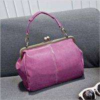 2016 Women Vintage Matte Leather Lock Bag Women Messenger Bags FashionCross Body Bag Large Shoulder Bag