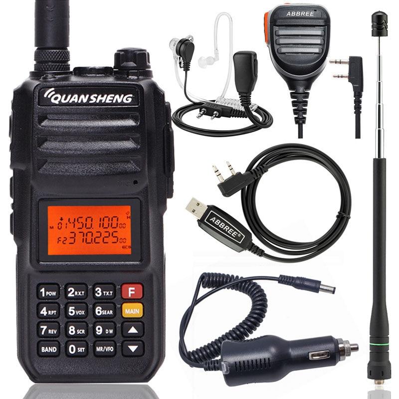 Quansheng TG-UV2 PLUS 10 W Puissant 5 Bandes 136-174 MHz/Police 350-390 MHz/400 -470 MHz 4000 mAh Jambon Radio Talkie Walkie TG-UV2Plus