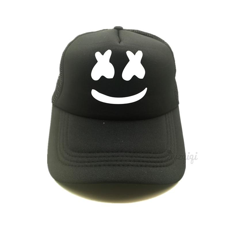 Men Women Marshmello Trucker Caps Dj Marshmello Dotcom Remix DJ Fans Cap Remix DJ Joytime Remix Music Fans Mesh Caps Hat ...