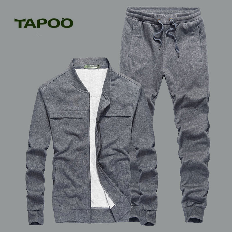 TAPOO 2017 Autumn And Winter New Mens Casual Knit Suit Leisure Comfortable Sweater Suit  ...