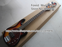 Custom 21 Shop Vintage Sunburst 5 Strings Music Man StingRey Bass Guitar From Chinese Musical Instrument