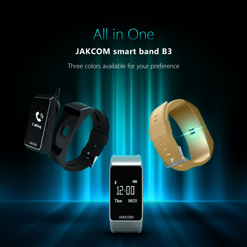 Jakcom B3 Smart Band New Product Of Wristba As Heart Rate Monitor Watch For Xiaomi Mi Band 2 Bracelet Talkband 1