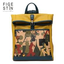 Figestin девушки рюкзаки оригинальный Дизайн Мода желтый серый мягкий персонажей школа элегантный дизайн сумки для подростков подарок для девочек