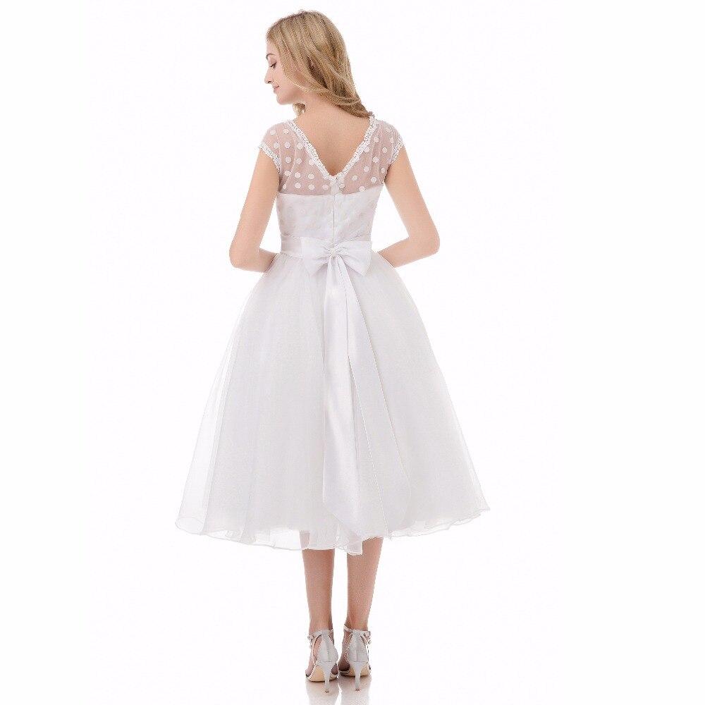 Vintage 1950s Short Wedding Dresses Scoop Neckline Wedding Gown ...