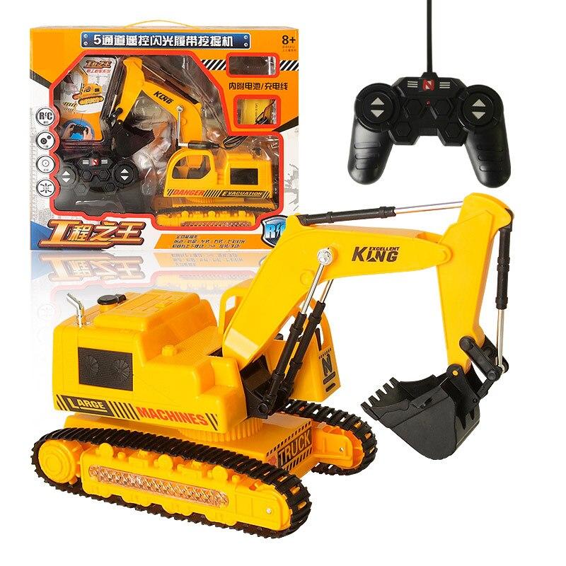2.4G cinq voies alliage pelle 1:24 sans fil télécommande pelle créative RC camion plage jouet RC ingénierie voiture tracteur jouet