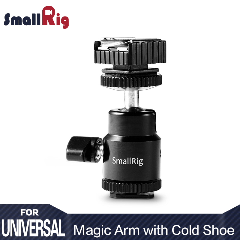 SmallRig Ball Head Clamp With Shoe Mount Adapter For Camera Tripod LED Light Flash Bracket Holder Mount Quick Release 1639