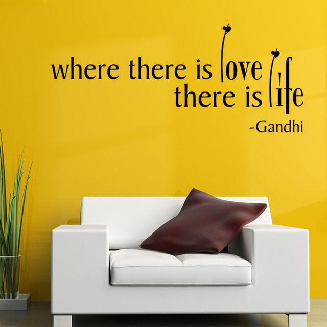 DCTOP Where There Is Love There Is Life Wall Sticker Quotes And ...