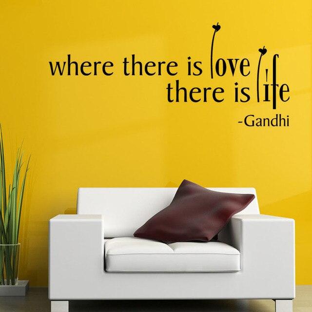 Dctop Wo Es Ist Liebe Ist Leben Wandaufkleber Zitate Und Spruche