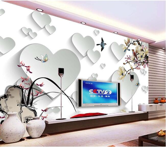Painting Supplies & Wall Treatments 3d Murals Wallpaper Custom The 3 D Tv Setting Wall London Big Ben Wallpaper Orders Are Welcome.