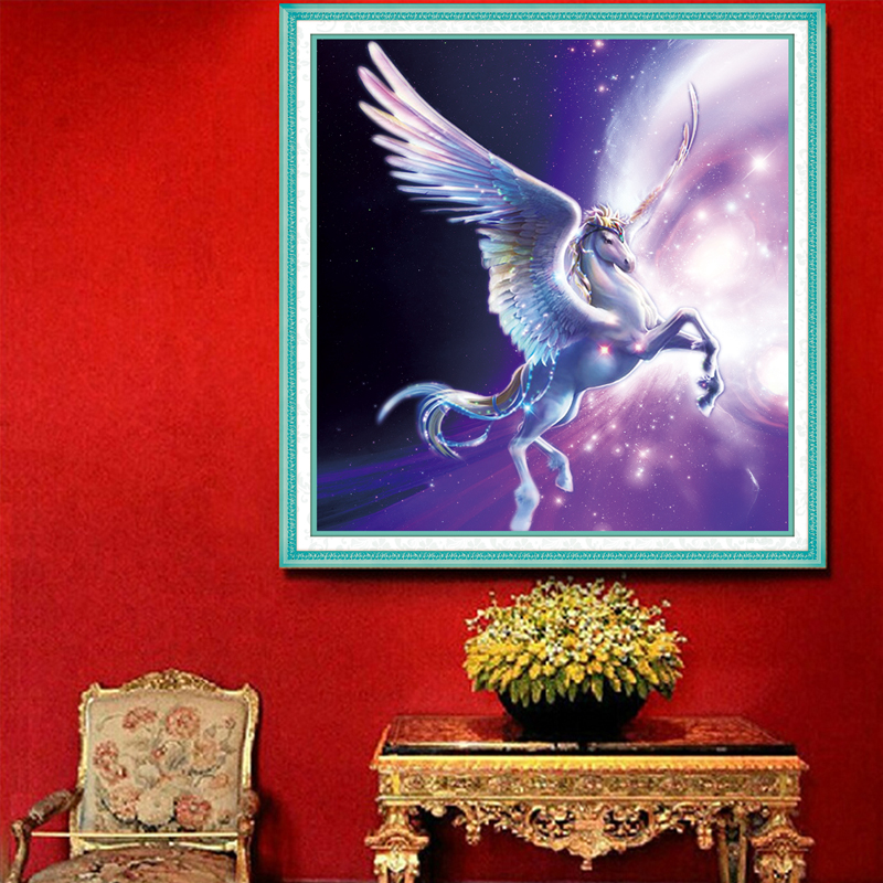 5D Diy Craft Diamond Painting Horse Pictures Costura Bricolage Manualidades Needlework Patchwork 61*60 Kit Strass 1253