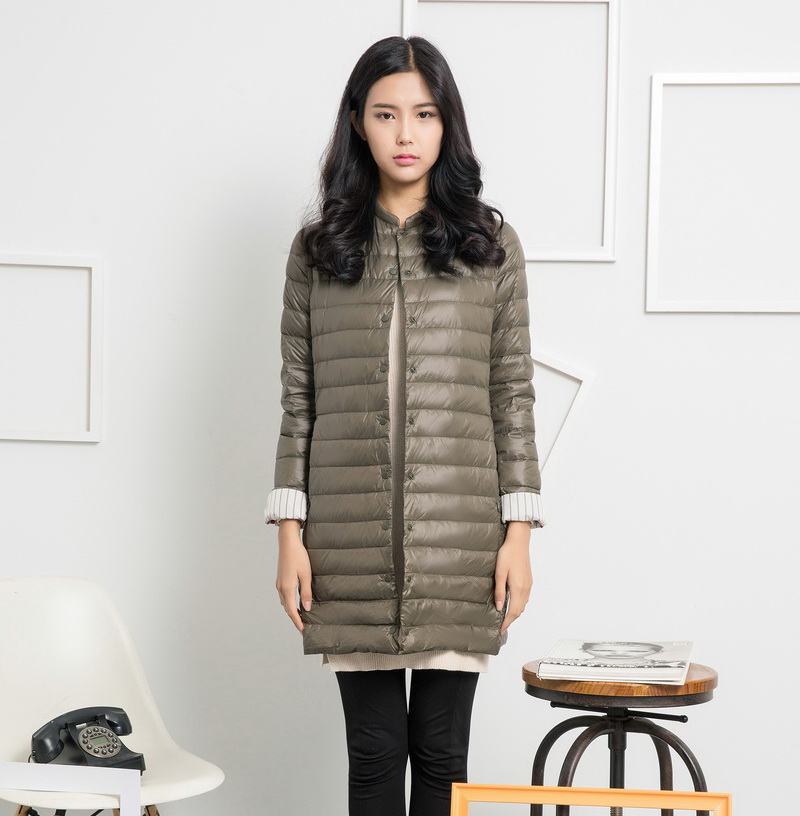 ФОТО Uwback 2017 New Brand Winter Jacket Women 90% Duck Long Ultra Light Slim Parkas Women Windbreak Outwear Coat Mujer TB1156