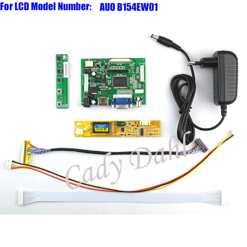 bilder für HDMI VGA 2AV Lvds-controller-karte + Backlight Inverter + 30 Pins Lvds Kabel Kits für AUO B154EW01 1280x800 1ch 6 bit TFT LCD Panel