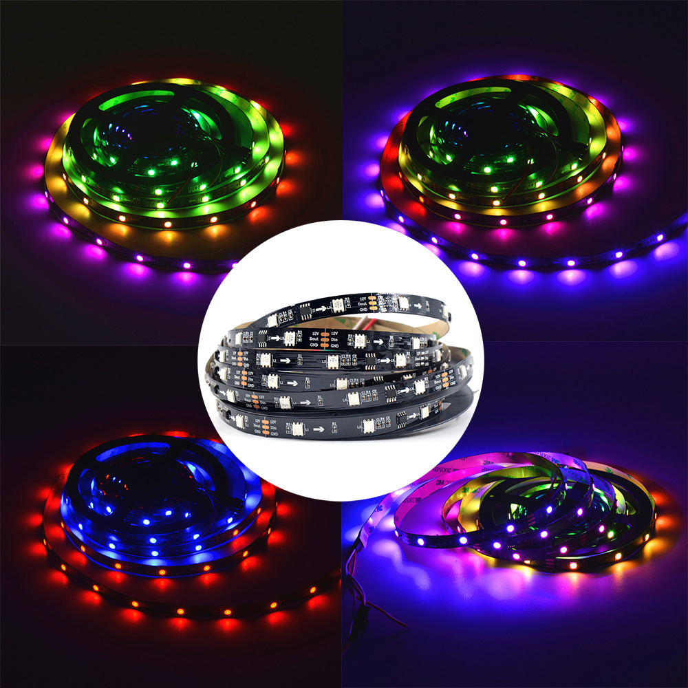 Ws2811 Led Strip Addressable 30/48/60leds/m 2811 Led Pixels 5050 Smd Rgb External 1 Ic Control 3 Leds 5m/roll 16.5ft Dc12v Buy One Give One Lights & Lighting