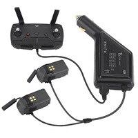 Автомобильное зарядное устройство для DJI аккумулятор Spark и пульт дистанционного управления зарядный концентратор автомобильный разъем USB а...