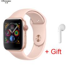 Bluetooth smart watch IWO 8 Monitor pracy serca ekg zegarek krokomierz Fitness Tracker 1 1 Smartwatch 44mm dla iOS Android tanie tanio Passometer Tracker fitness Uśpienia tracker Wiadomość przypomnienie Przypomnienie połączeń Naciśnij wiadomość 24 godzin instrukcji