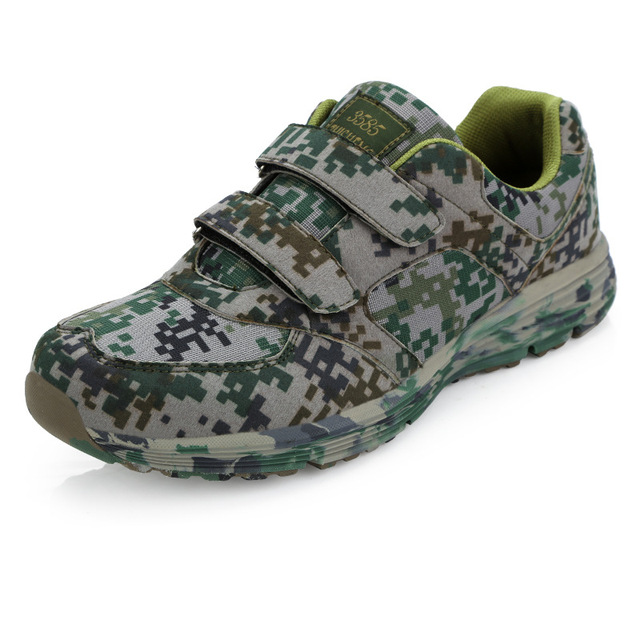 c3a0b2bb168c Jungle Desert Field Soldier Outdoor Buckles Forest Camouflage Digital  Running Shoes Military Training Sneakers Sport Shoes Men