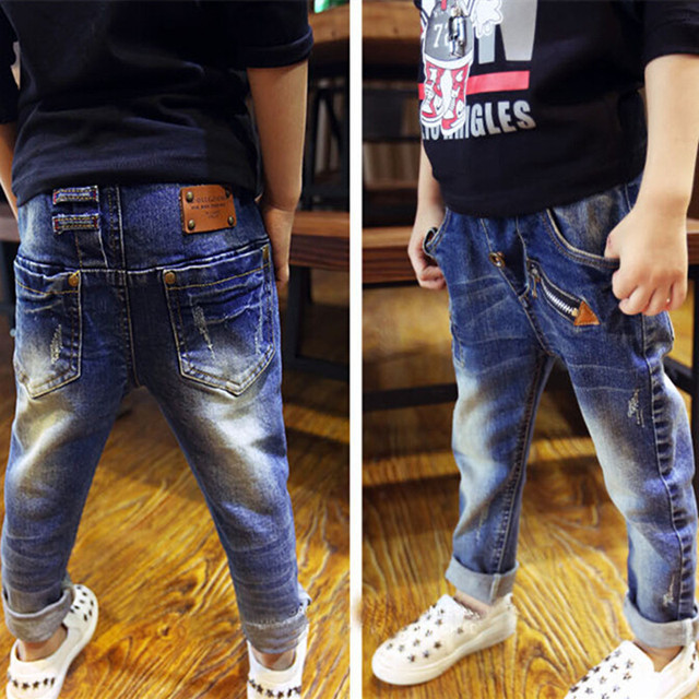 Retail, jeans boy for children wear fashionable style and high quality kids jeans, boys ripped jeans, 3-14 years old