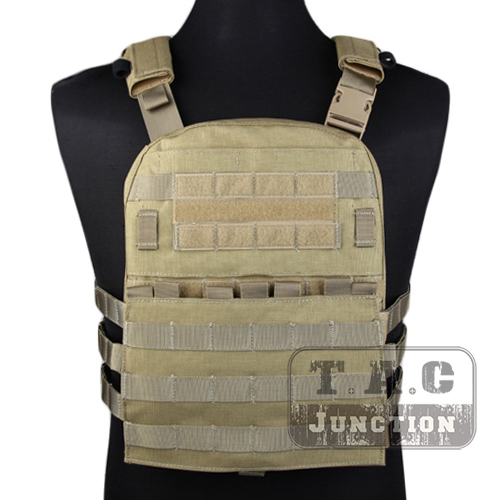 Emerson Tactical Adaptive Vest AVS Plate Carrier Assault MOLLE Lightweight Body Armor 3 Band Skeletal Cummerbund Khaki emerson tactical adaptive vest avs plate carrier assault molle lightweight body armor 3 band skeletal cummerbund khaki