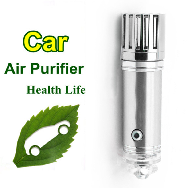 silver air purifier oxygen bar car ionizer interior decoration air freshener air purifier. Black Bedroom Furniture Sets. Home Design Ideas