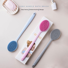 Long Handle Plastic Bath Brush Shower Back Body Brush Massage Skin Cleaning Tools Shower Scrubber Brushes Bathroom Accessories vehhe body brush spa banya massage scrubber bathroom accessory long handle shower brush bath skin massage brushes exfoliate