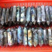 Natural labrador stone crystal wand point obelisk reiki chakra healing natural stone and mineral Christmas gifts