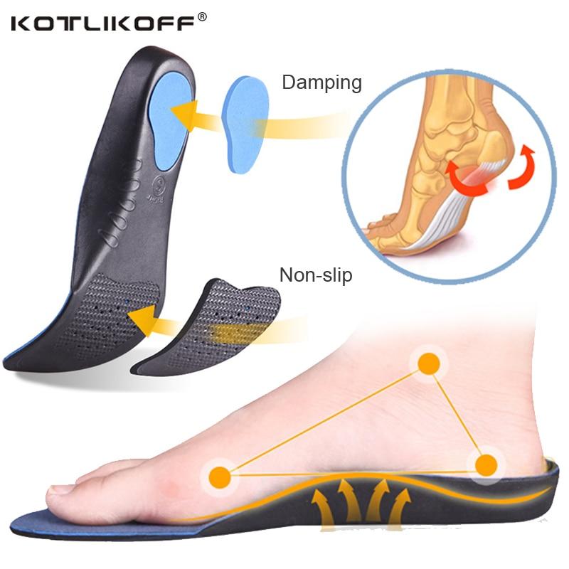Vuxna ortotiska insoles Breathable 3D Bekväm EVA-insoles Flat Feet Arch Hjälp insoles ortopediska svetsabsorberande sulor
