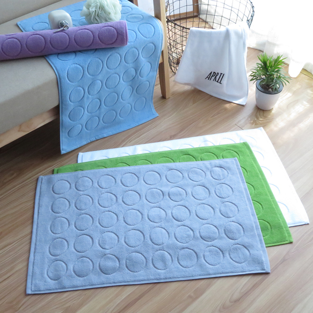100 Cotton Home Hotel Floor Towel Mat Bathroom Towels Absorbent Non Slip Carpets Step