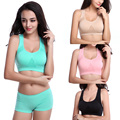 Women Crop Bra Fitness Stretch Tank Seamless Racerback Breathable Tops Hot L34