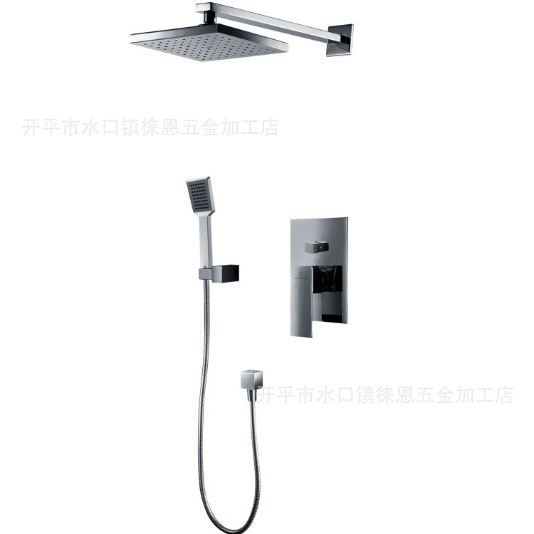 All copper into the wall concealed shower concealed rain shower faucet shower faucet hot and cold shower