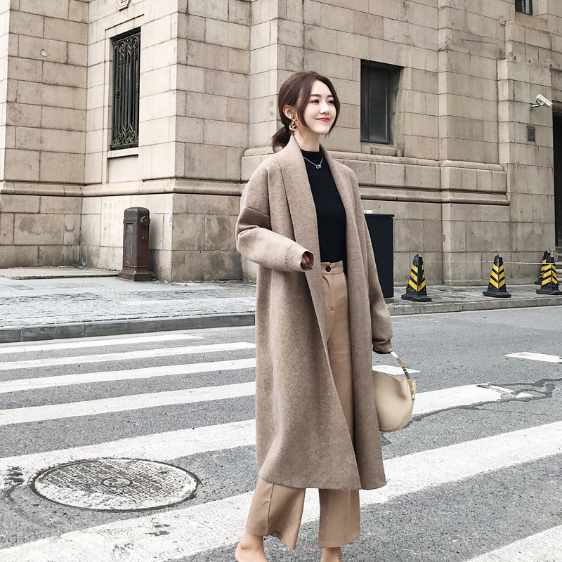 H.SA Women Winter Clothes 2019 Cashmere Sweater Caedigans Oversized Long Jacket Coat Winter Warm Batwing Knit Ponchoes Coat