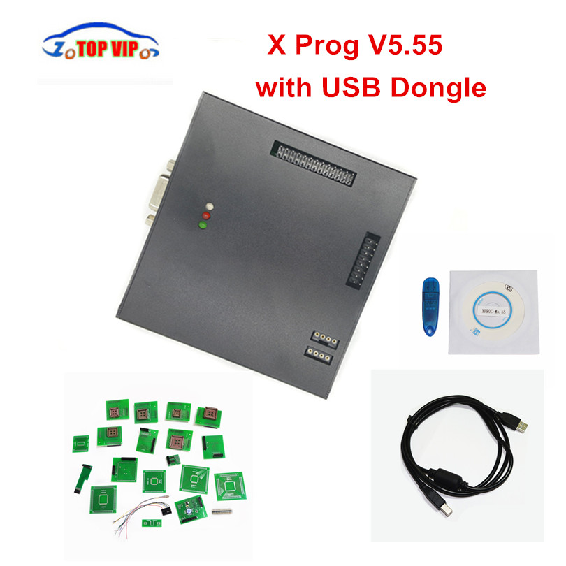 DHL Free!! High Quality XPROG V5.55 XPROG M 5.55 ECU Programmer X prog Chip Tuning Tool One Year Warranty good quality x prog m 5 0 free shipping