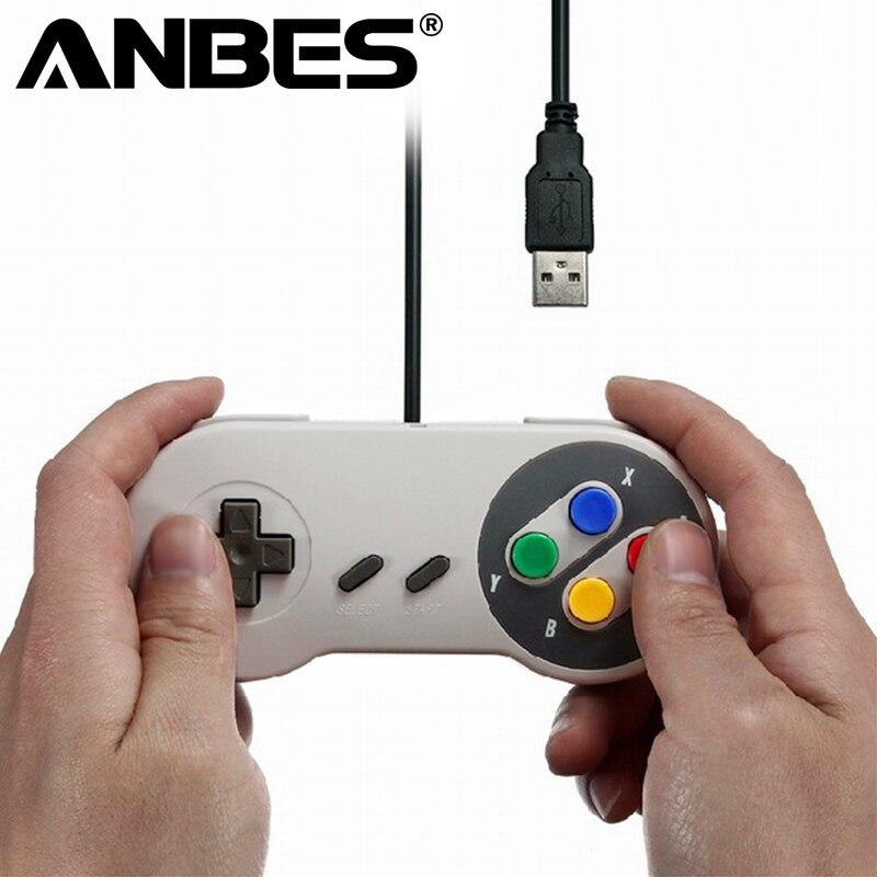 USB Joystick Controller Gamepad Controller Gaming for Nintendo SNES Game pad for Windows PC Mac Computer Control Joystick