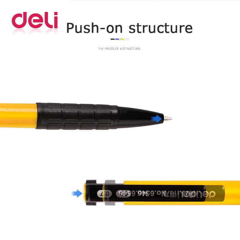 Deli 1 pcs Bút Bi Bút Sinh Viên Văn Phòng Phẩm 0.7mm Ép Bút Bi 4 Màu Nhựa Bóng Bút Trường Học và Văn Phòng nguồn cung cấp