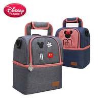 Genuine Disney Mickey Mouse Mommy Bag Dry and Wet Separation Diaper Bags Baby Travel Food Backpack Baby Care Stroller Bag