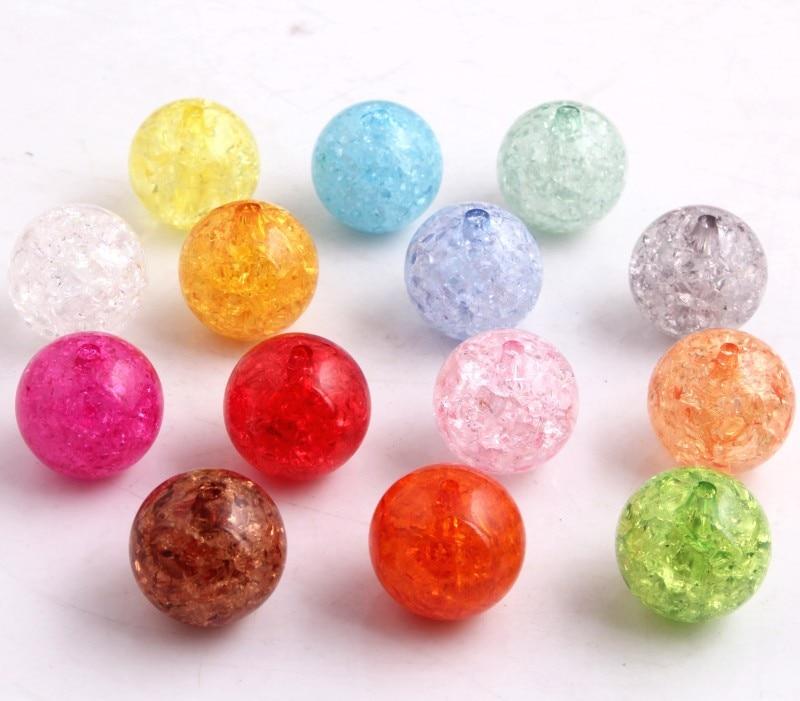 Kwoi Vita 2017 Hot Sale AAA Quality Chunky Acrylic Crackle AB Beads For Jewelry Making