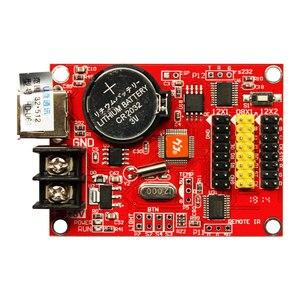 Image 2 - Huidu hd u60 P10 einzigen farbe und dual farbe led programmierbare zeichen controller, u disk Kommunikation Digital LED Moving Zeichen