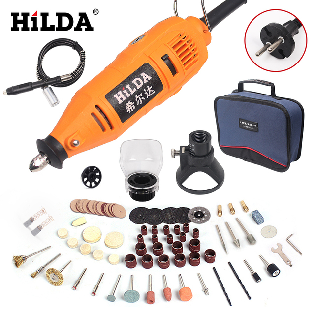 HILDA Power Tools Electric Rotary Tool Dremel Style Mini Drill Variable Speed 133pcs Accessories