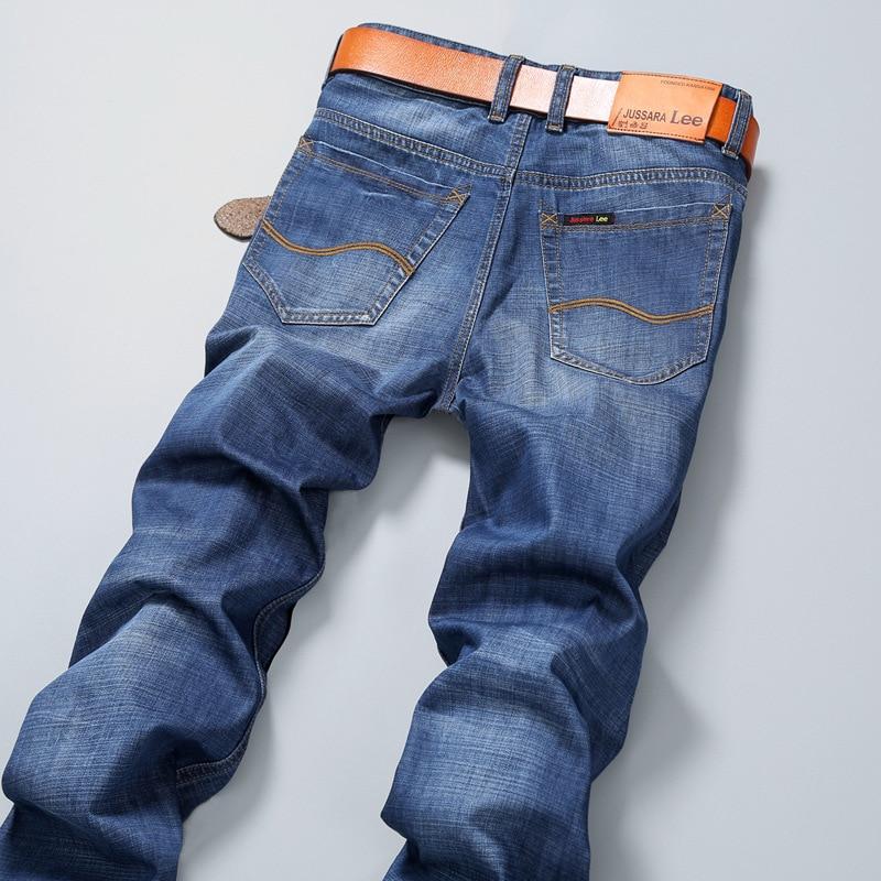 Fashion Brand jeans Light Blue men Casual straight mens jeans summer skinny denim pant jean denim
