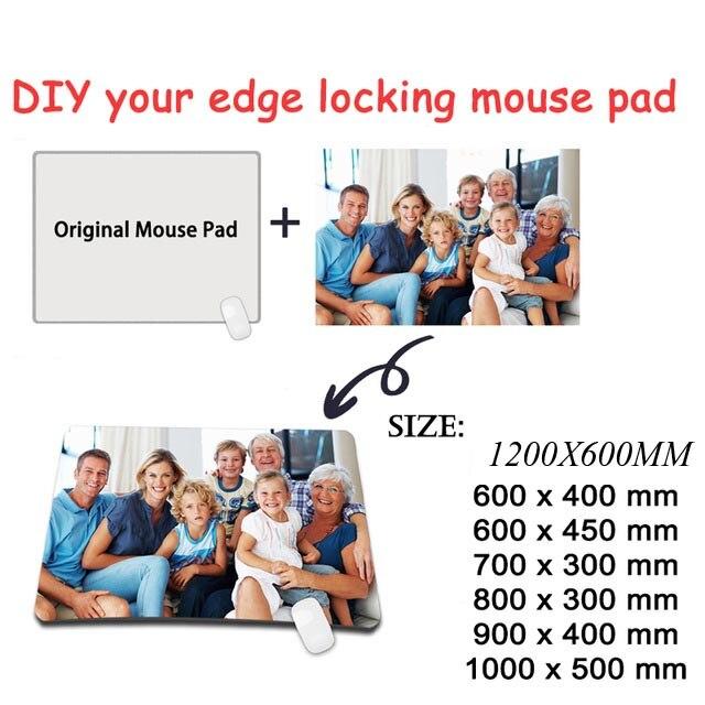 Yuzuoan 1200*600*3 MM personnalisé imperméable Super grand tapis de souris Xl Gamer verrouillage bord ordinateur clavier tapis pour CSGO DOTA tapis de souris