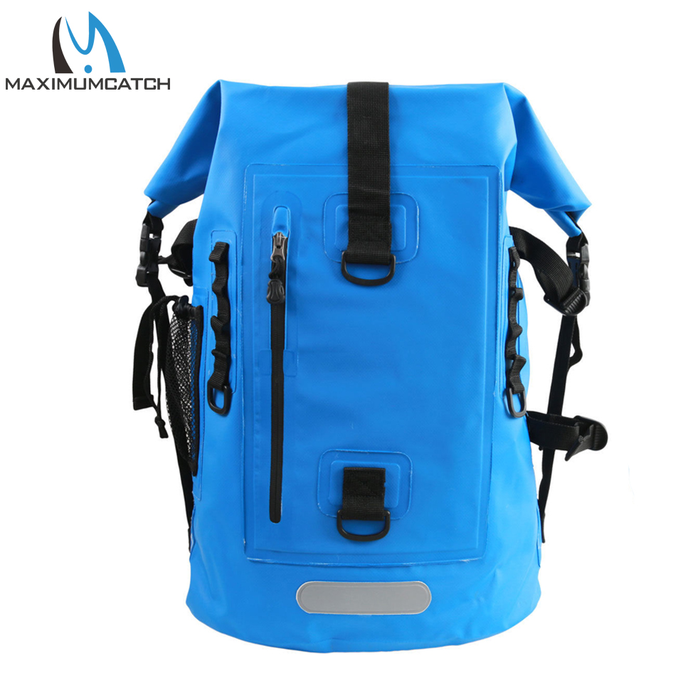 Maximumcatch Waterproof Dry Backpack Fishing Bag Ultra durable 500D PVC Watershed Fly Fishing Bag with Tube