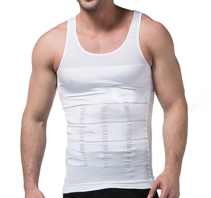 Slim N Lift Men Shaper Vest Body Tummy Belly Waist Girdle Shirt Shapewe Comfort  Shirt Vest Corset  Shaper Underwear