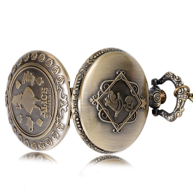 Винтидж мед джобен часовник Алиса в - Джобни часовници - Снимка 4