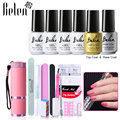 Belen Nail Art Set Chameleon Gel Varnish Base And Top Coat 9W LED UV Lamp Nail Dryer Top Coating Base Lacquers Nail Tools Kits
