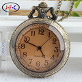 Free shipping  special offer large retro fashion fashion quartz pocket watch Brown mirror DS048