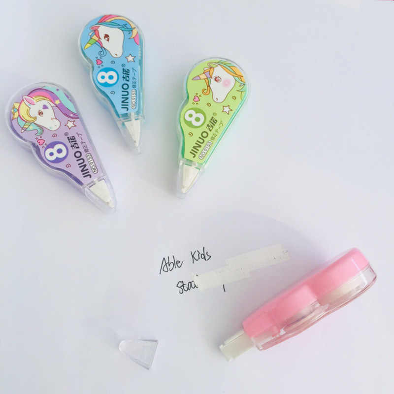 4 шт./упак. милый Единорог коррекции ластик-лента для письма школьные канцелярские принадлежности Подарочный набор