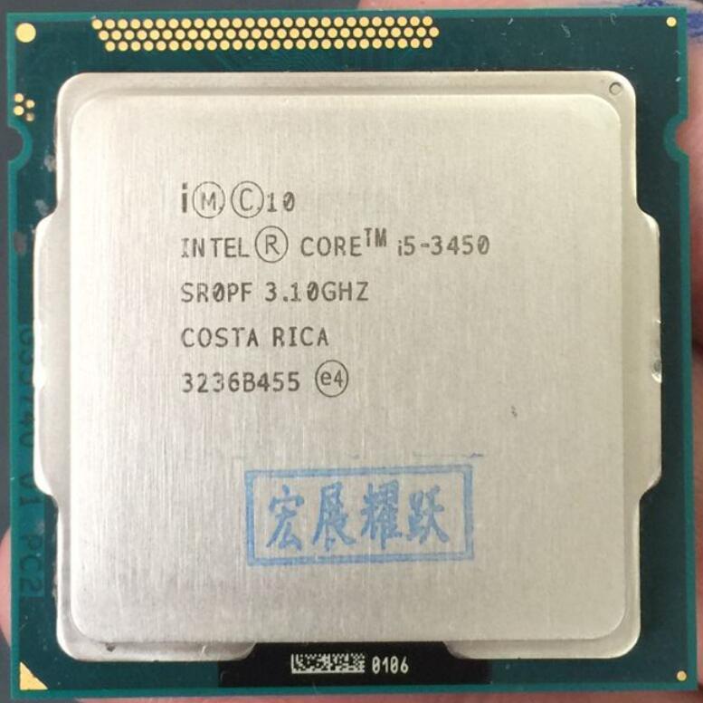 Processeur Intel Core i5 3450 i5-3450 LGA1155 PC ordinateur de bureau Quad-Core CPU