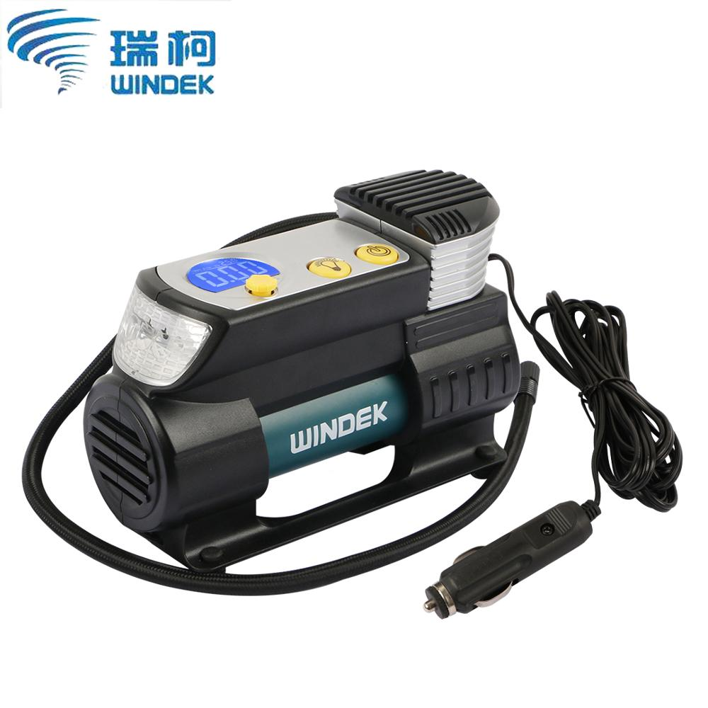 Windek Car Air Compressor 12v Electric Auto Tire Inflator Pump With Preset  U0026 Auto Stop Function