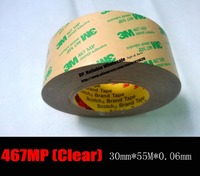 1x 30mm 55M 0 06mm 2 3mils Thickness 3M 467MP Clear Two Sided Tape Roll Laminating