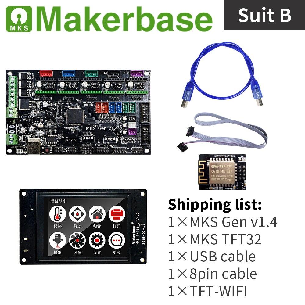 Kits MKS Gen v1.4 et MKS TFT32 V4.0 pour imprimantes 3d développés par Makerbase - 2